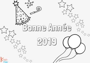 Coloriage pour enfant bonne année 2019