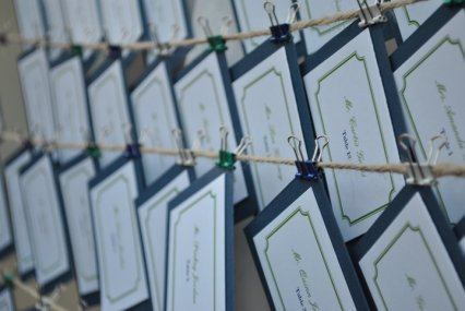 Escort Cards Hung with Twine