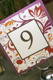 Fall Flourish Table Numbers