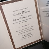 Glitter Pocket Wedding Invitation