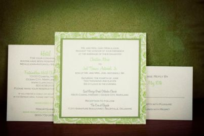 Paisley Wedding Invitation