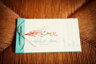 Birds in Love Booklet Wedding Invitation