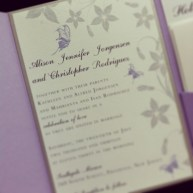 Garden Butterfly Pocket Wedding Invitation
