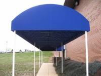 Blue Walkway Canopy | Kreider's Canvas Service, Inc.