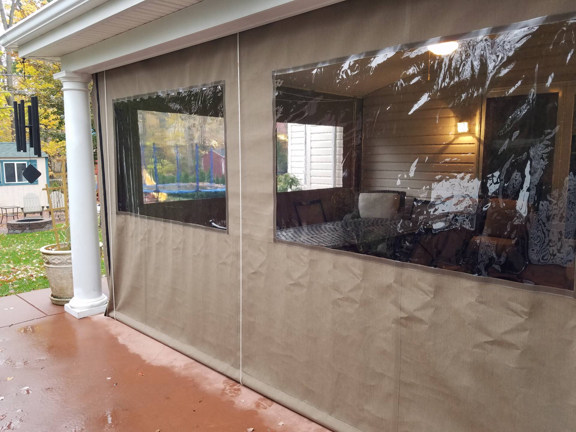 Clear Drop Curtain Enclosure Kreider39s Canvas Service Inc