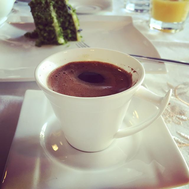 I just want to sit here, look out of the window and sip my Turkish coffee all day #istanbul #turkishcoffee