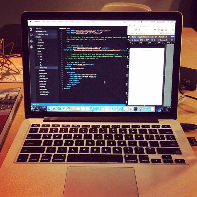 Friday night and I am hacking along #iamback #hackingforlife #ionicframework