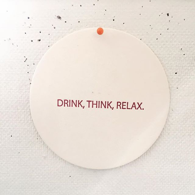 Drink, think, relax. #mydesk #mottooftheday