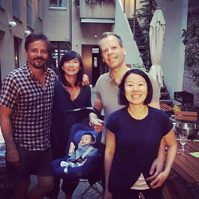 BBQ with friends. Good to see you @kvondalwig @pvd68 #brooklyn #berlin