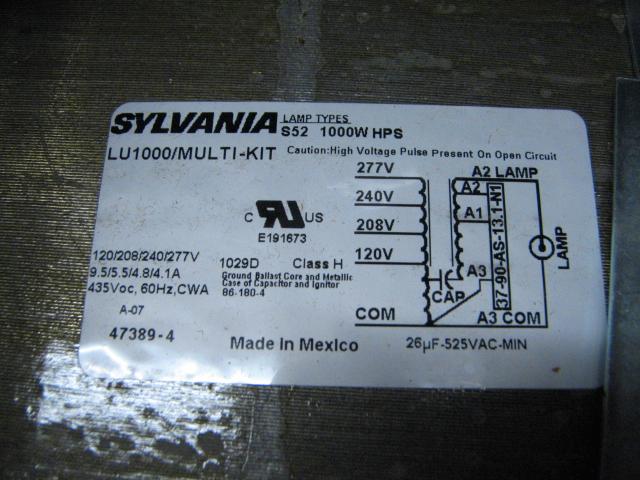 1000 Watt High Pressure Sodium Ballast Wiring Diagram Wiring Diagram For 1000w Hps Ballast Wiring Diagram