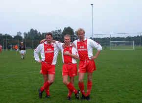 Jaap met zwagers Wiebe en Jan Wolter