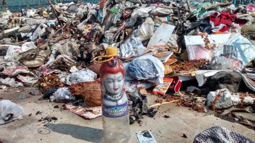 Lord shiva in garbage pile