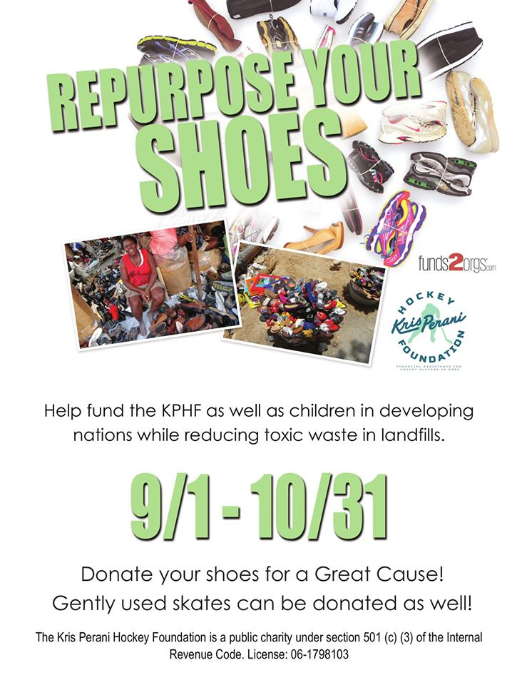 Shoe Drive Fundraiser - Kris Perani Hockey Foundation