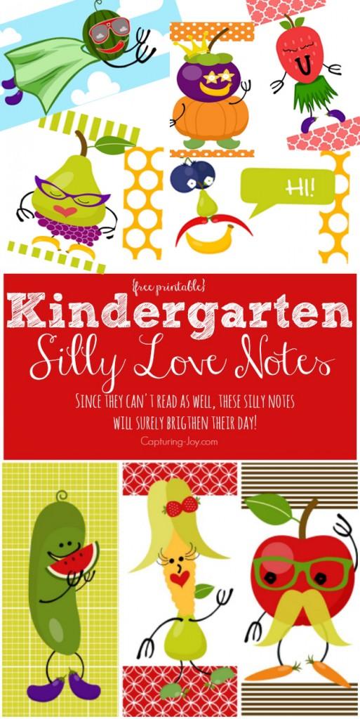 Kindergarten Silly Love Notes