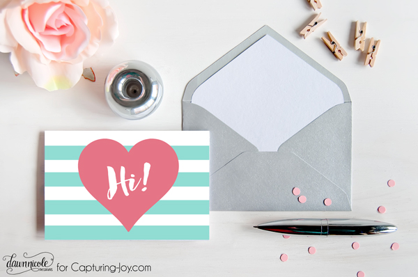 Free Printable Retro Notecards - Capturing Joy with Kristen Duke