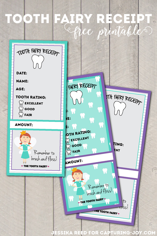 Tooth Fairy Receipt Free Printable - Capturing Joy with Kristen Duke - printable receipt free