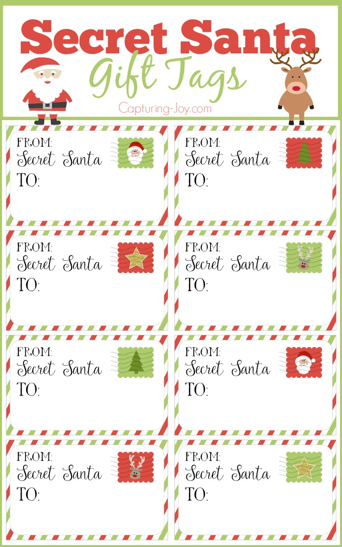 Secret Santa Gift Tags - Secret Santa Gift Exchange Ideas