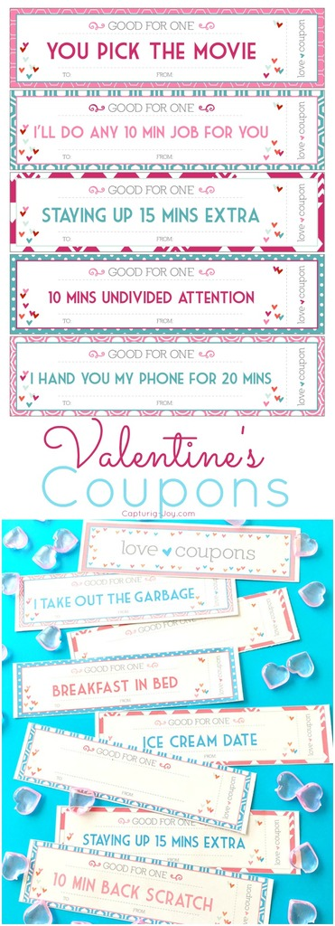 Valentine\u0027s Day Coupons for kids - printable valentine coupons