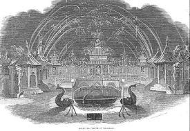 Fireworks display at Vauxhall Gardens, 1800.