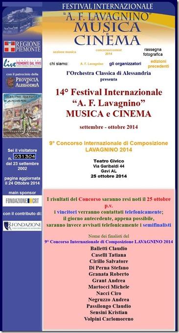 Festival Internazionale A. F. Lavagnino - Musica e Cinema short