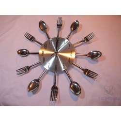 Frantic Minute A Little Over A Week Now Andit Review Ohuhu Cutlery Kitchen Fork Knife Wall Clock Kristofer Clock Has A Knife Fork Just Astraight Second Been Using It Hour Hands