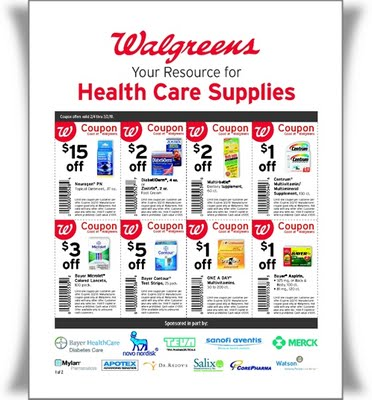 NEW Walgreens Health Care Supplies Coupon Flyer!! Kroger Krazy