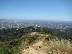 View of Griffith Observatory and Los Angeles