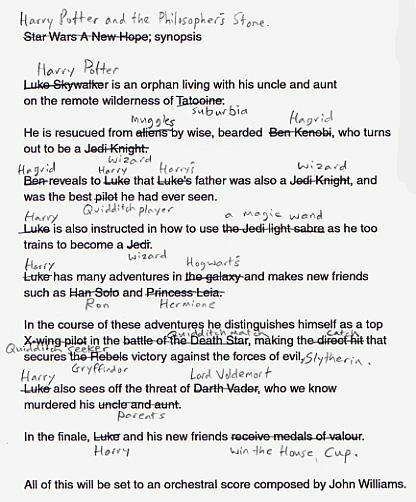 star wars harry potter exchange essay