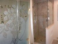 Shower Doors: Etched Shower Doors