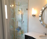 Etched Glass Shower Doors