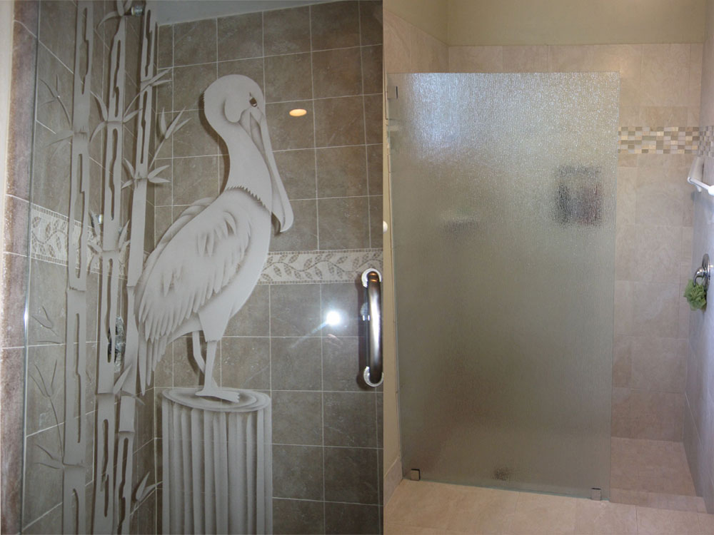 Etched Glass Shower Door Designs