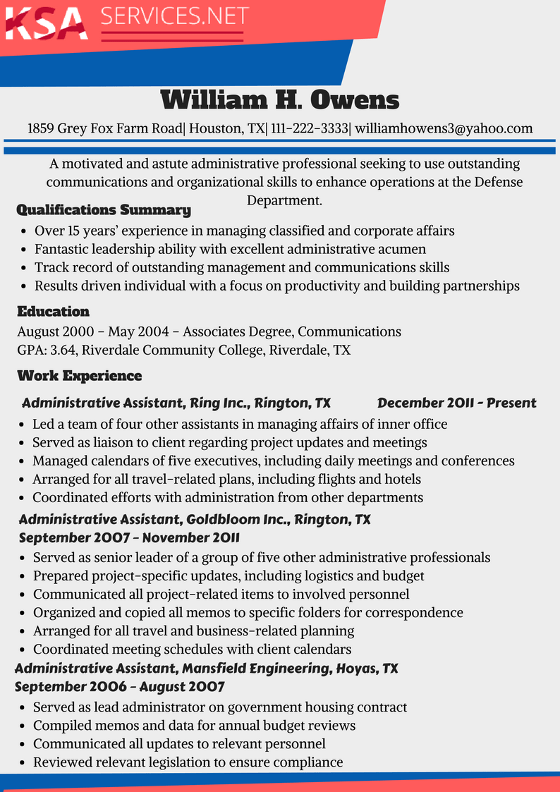 examples of key qualifications for a resume