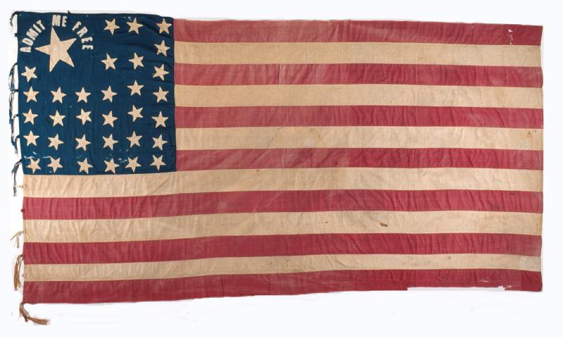 Admit Me Free Flag - Kansapedia - Kansas Historical Society