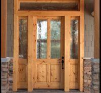 KNOTTY ALDER 2-LITE CRAFTSMAN ENTRY DOOR WITH SIDELITES EX ...