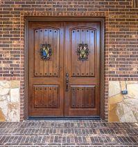 KNOTTY ALDER DOUBLE ENTRY DOOR ARCH TOP 6ft x 8ft EX-1341 ...