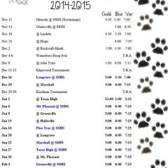 Lady Cats 2014 – 2015 Basketball Schedule