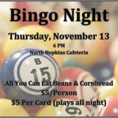 Beans and Bingo Benefit for the North Hopkins Junior Class