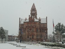 snow courthouse square