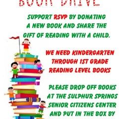 RSVP (Retired Senior Volunteer Program) is having a BOOK DRIVE