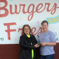 Burgers and Fries Wait Staff Donate to Senior Citizens Center