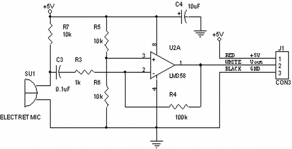electret microphone preamplifier probing