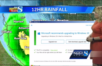Windows 10 upgrade interrupts weather report
