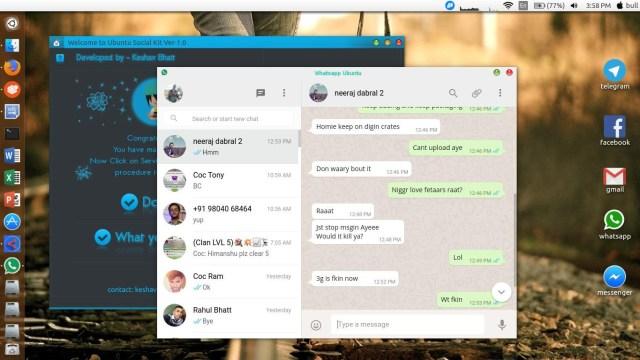 whatsapp ubuntu desktop app