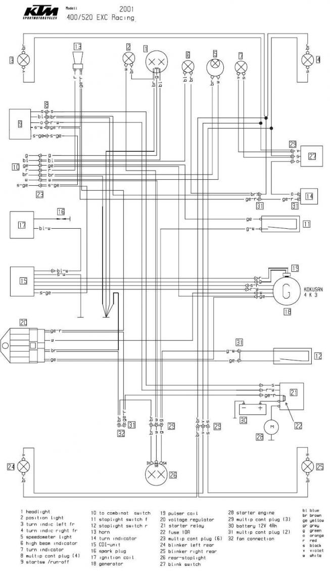 2008 ktm exc wiring diagram