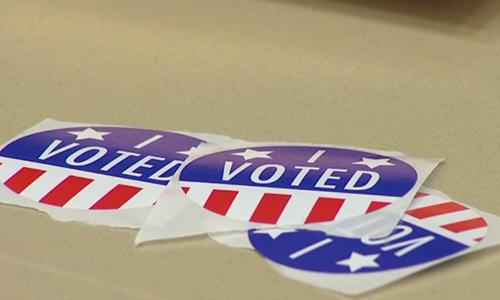 Trenton High School students hold mock election