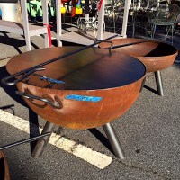 Custom Built Steel Fire Pit  Kudzu Antiques