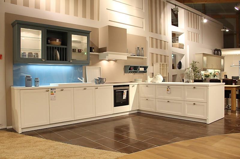 Lanhausküche Finca in Vanille Strichlack (rational Küchen) küche - küche landhausstil gebraucht