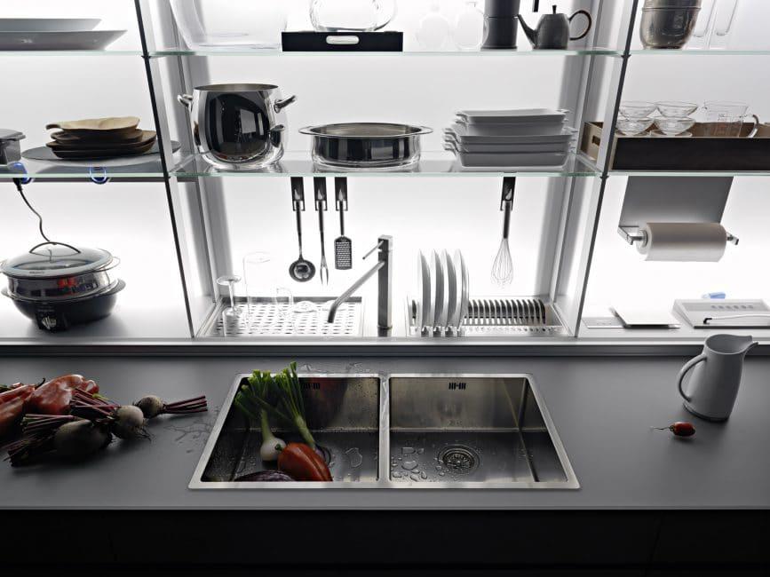 Italienische Küchen Systeme Von Valcucine Vereinen Stil Und - kuchen utensilien artematica inox valcucine