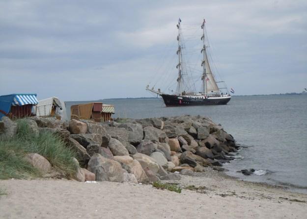 Oldtimer-Schiffe ankern oft in der Schilkseer Bucht vor Ihrem Ferienhaus