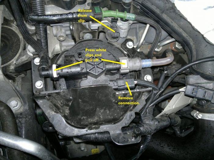 ford 7 3 fuel filter location
